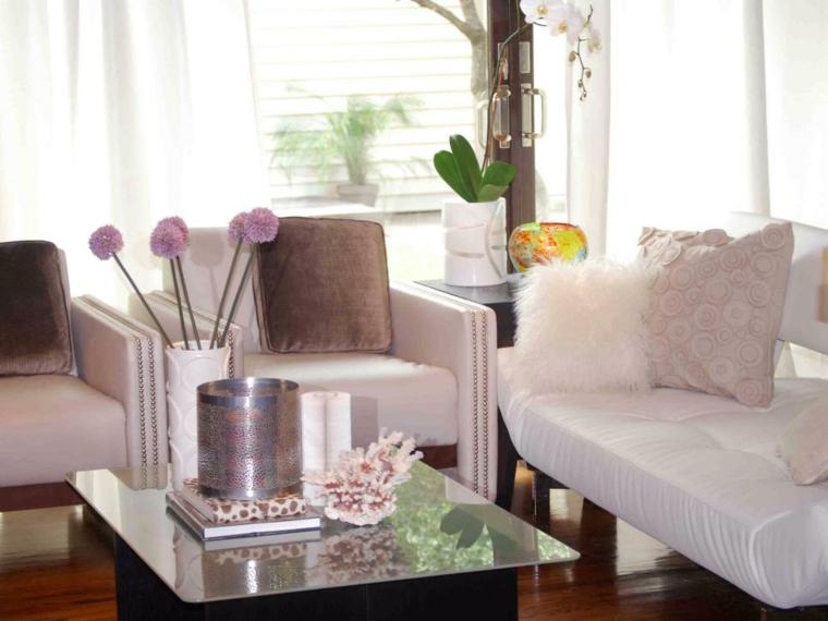 madera suelos decoracion ideas cortinas rosa