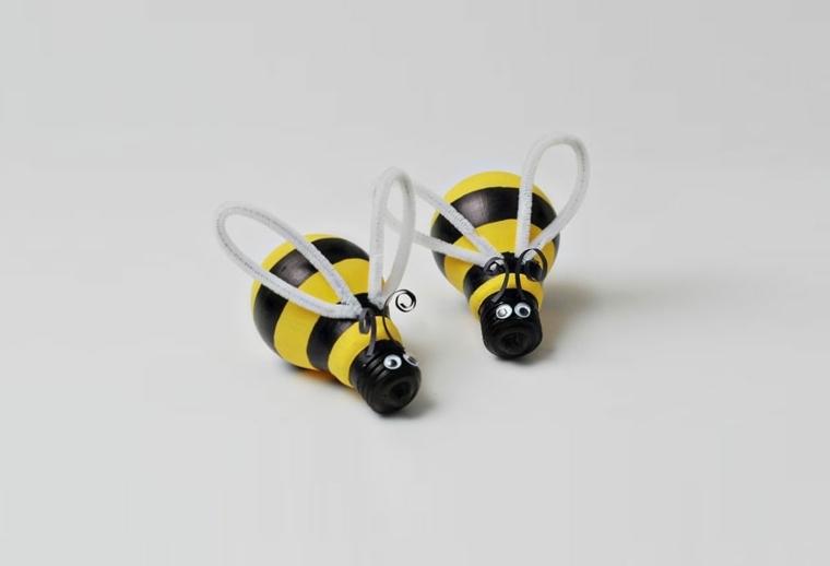 manualidades en casa bombillas abejas bonitas ideas