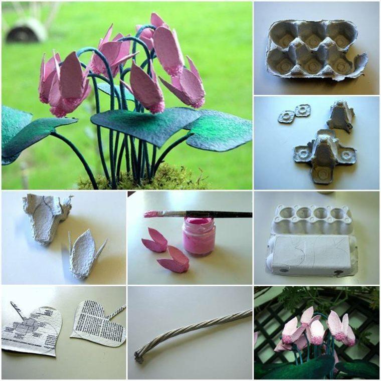 manualidades-en-casa-bombillas-flores-carton