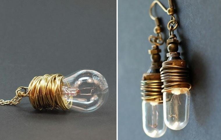 manualidades en casa bombillas pendientes ideas