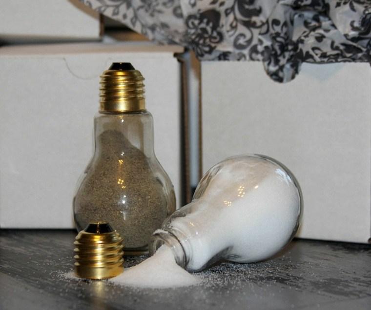 manualidades casa bombillas sal pimiento ideas