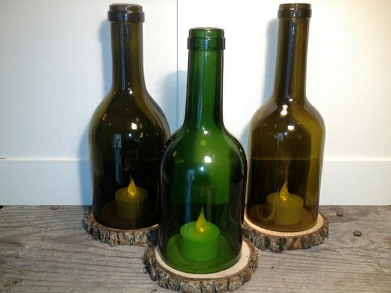 manualidades casa botella madera ideas