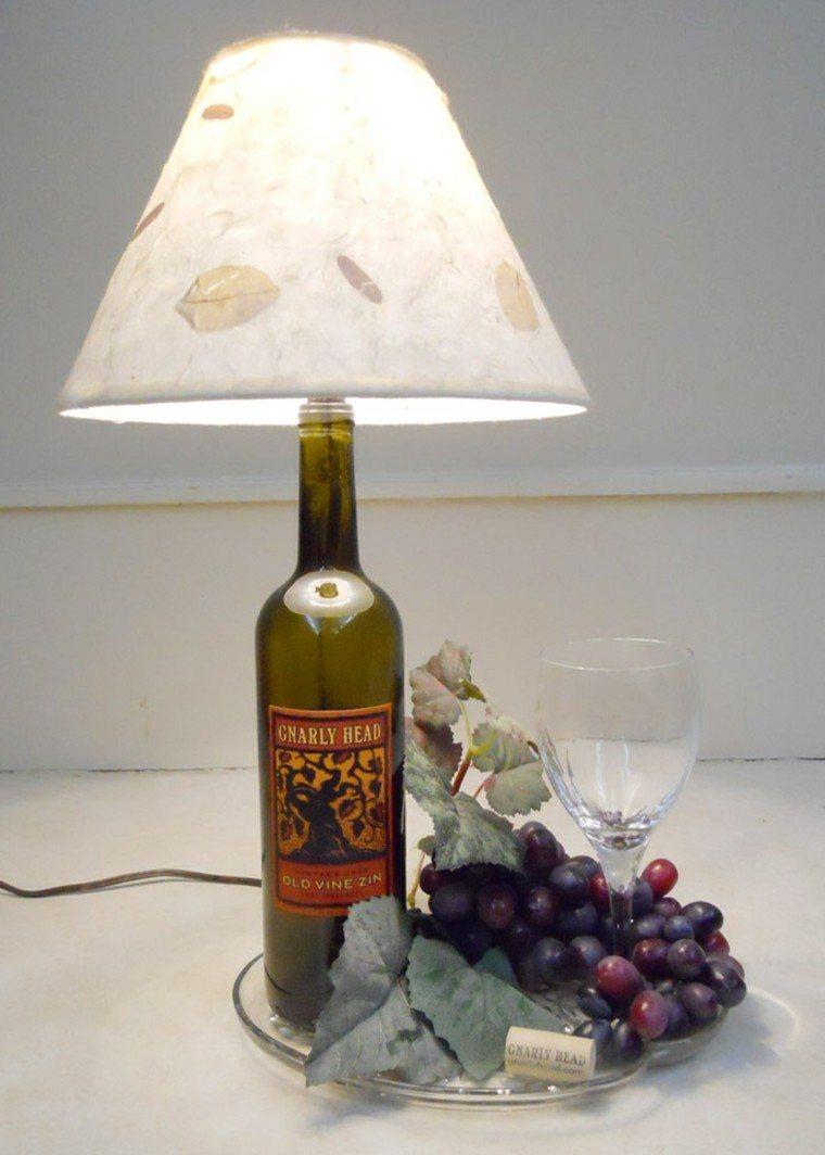 manualidades casa botella vino lampara ideas