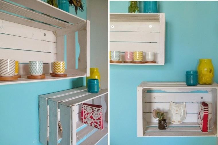 manualidades casa estanterias blancas ideas