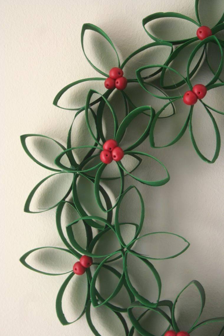 manualidades casa flores papel verde ideas