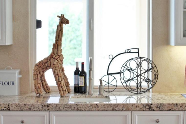 manualidades casa jirafa corcho ideas