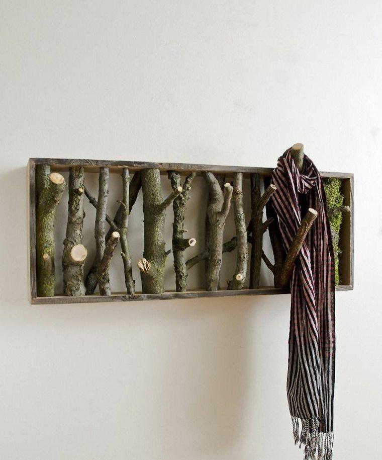 manualidades casa perchero moderno madera ideas
