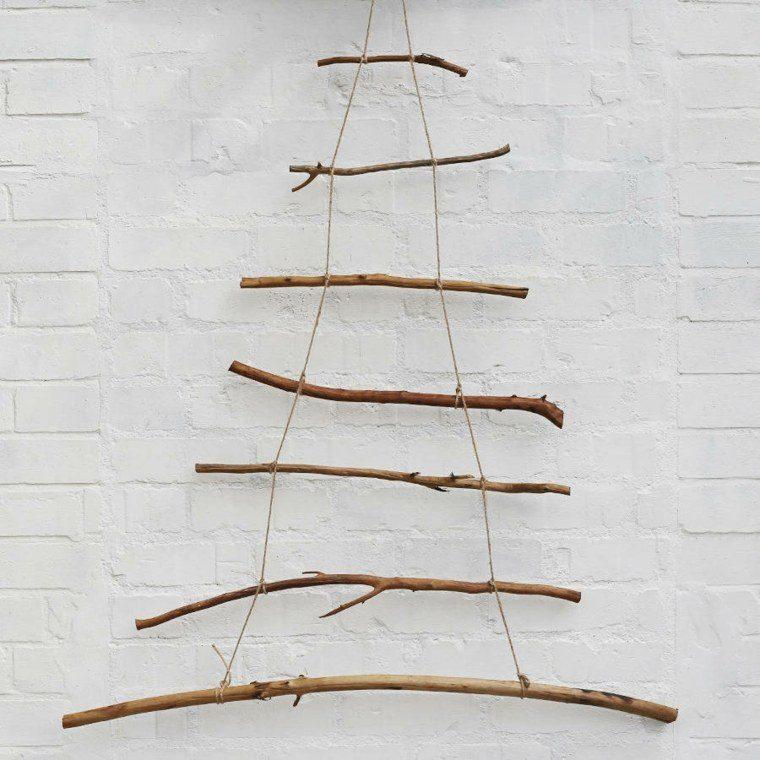manualidades casa ramas madera decorativas ideas