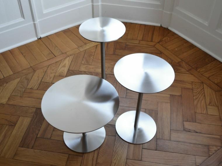 mesa auxuliar preciosas acero brillantes ideas