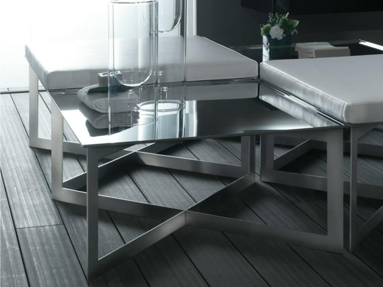mesa auxuliar preciosas encimera cristal ideas