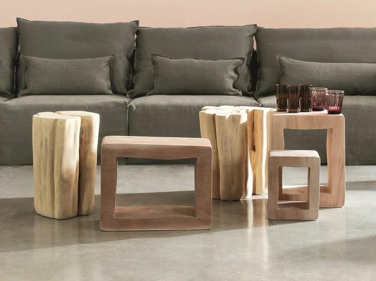 mesa auxuliar preciosas madera natural ideas
