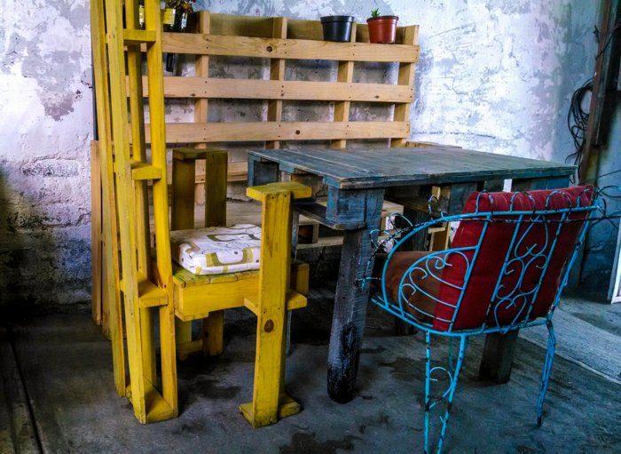 muebles comedor pallets colores