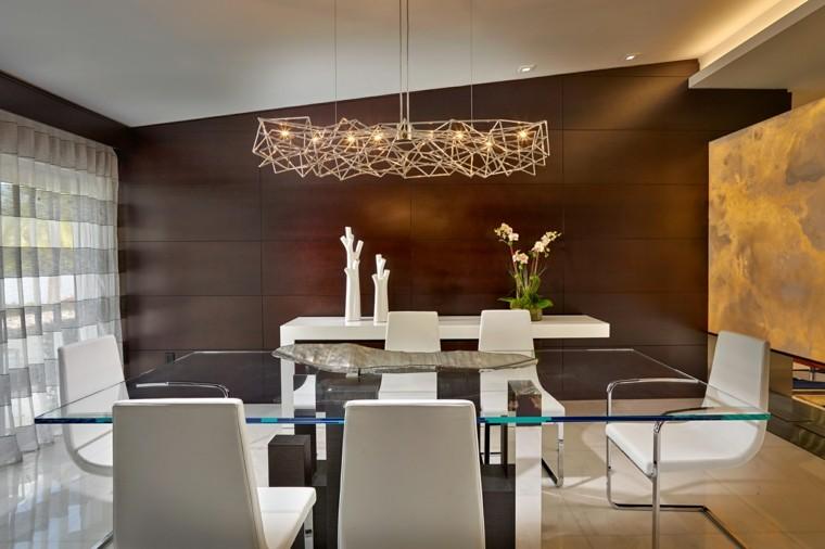 Comedores de dise o inspirador elegante y moderno - Lampara mesa comedor ...