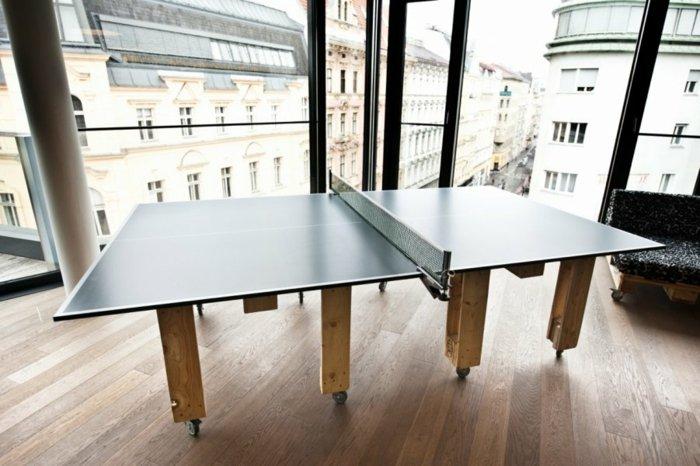 mesa ping-pong patas pallet