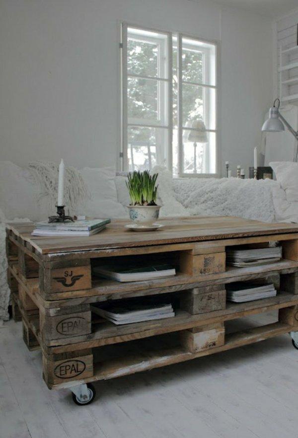 mesa madera palet estantes