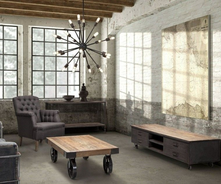 mesa salon diseno industrial precioso ideas
