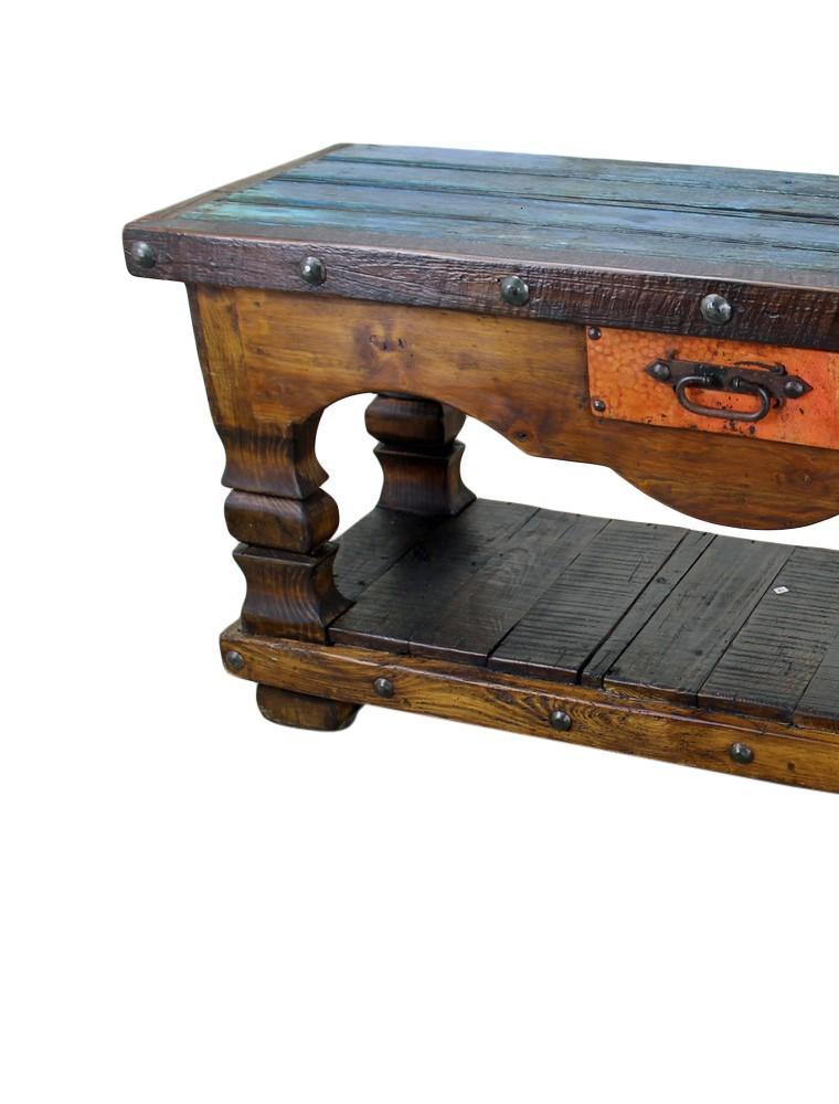 mesa madera trabajo colonial