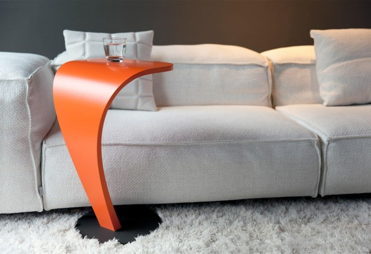 mesa auxiliar preciosas color naranja ideas