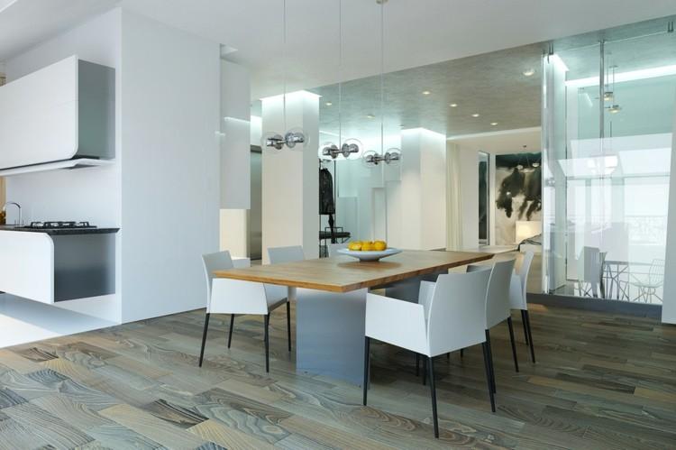 mesas casas variables cristales blanco suelos