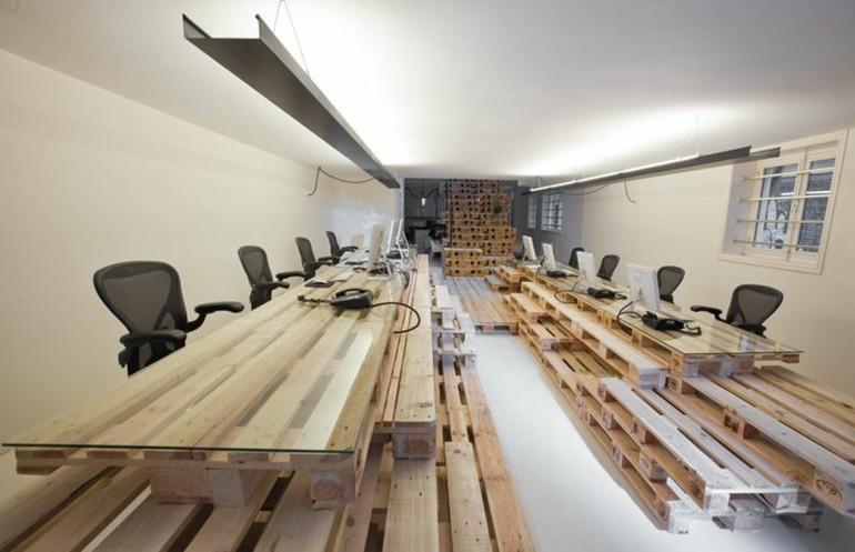 mesas oficina madera deco pallet