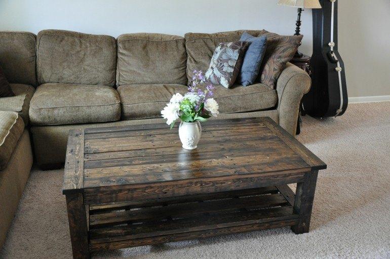 mesa salon pallet madera
