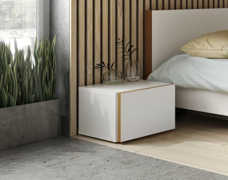 mesilla noche blanca diseño moderno