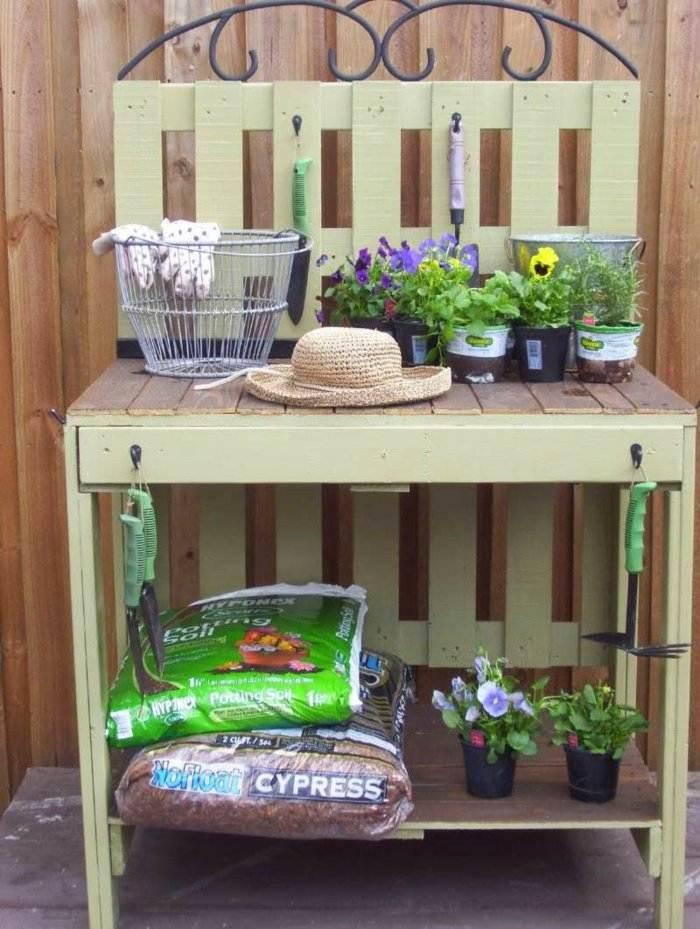 mueble auxiliar plantas jardín