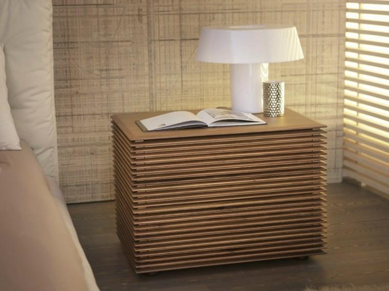 White Headboard Wood Nightstand