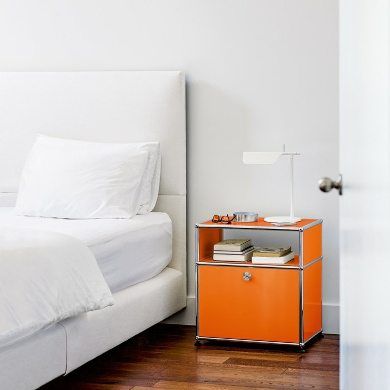 original mesilla noche color naranja