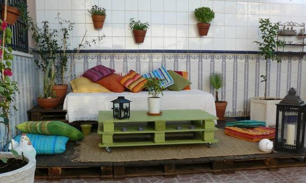 mesilla terraza color verde