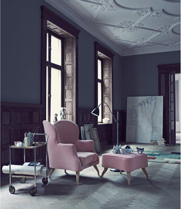 mobiliario diseño centro grises rosa