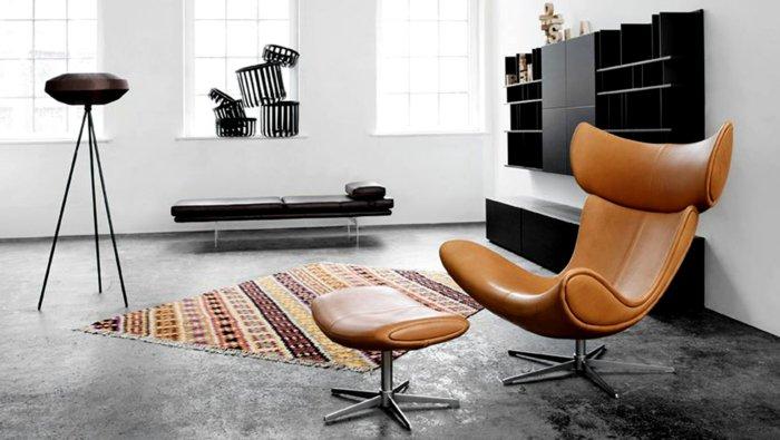 mobiliario diseño centro mesa hormigon cuero