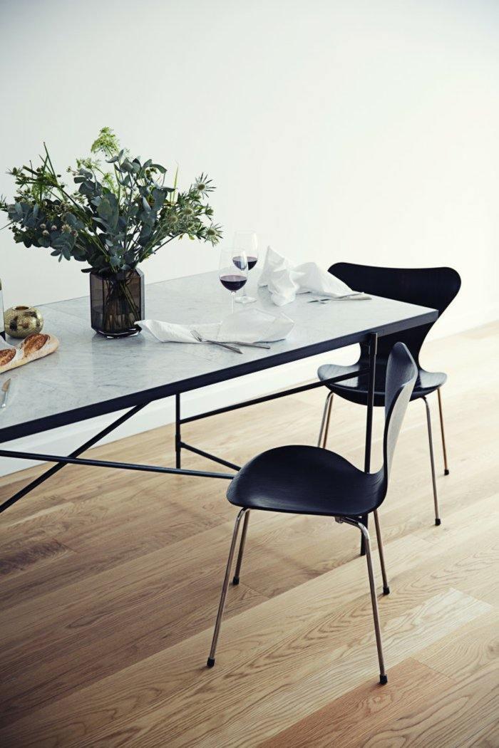 mobiliario diseño ramas negro sillas