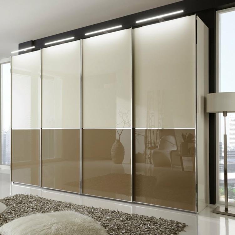 modular armarios cojines marrones vidrio esferas