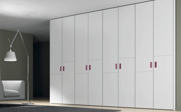 modular armarios grises plantas detalles rojo