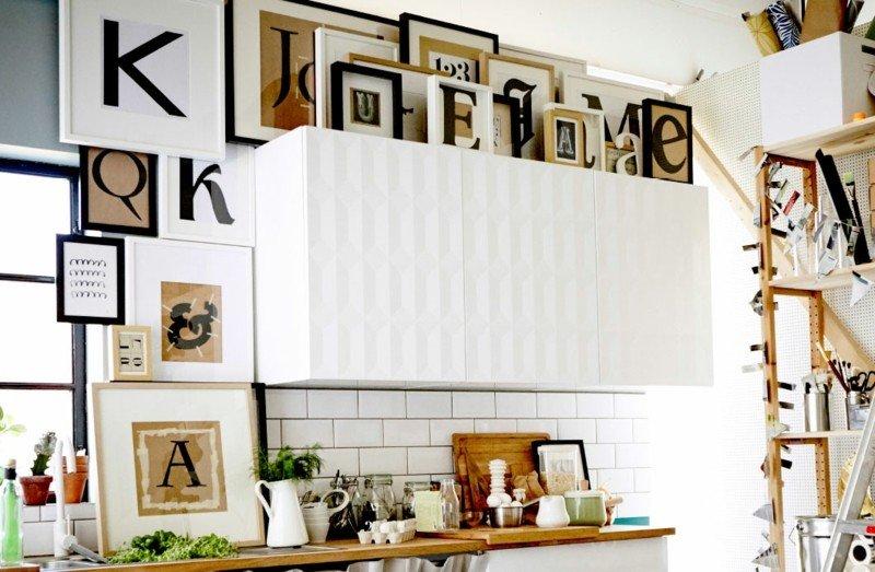 mueble cocina original blanco relieve