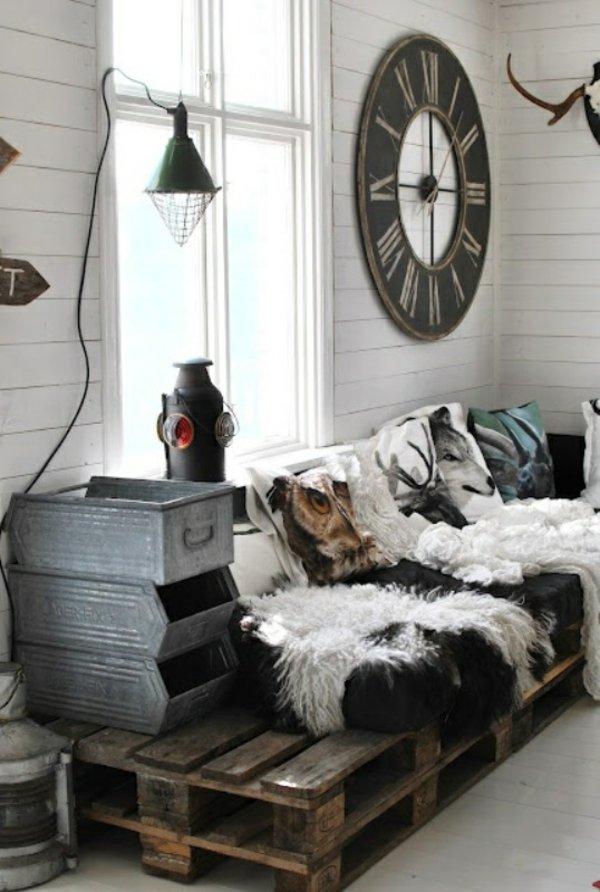 sofa interior palet madera
