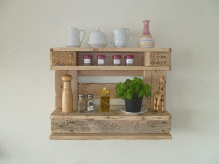 estante pequeño cocina opallet
