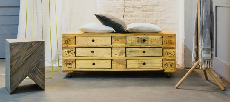 mueble pallet madera cajones deco