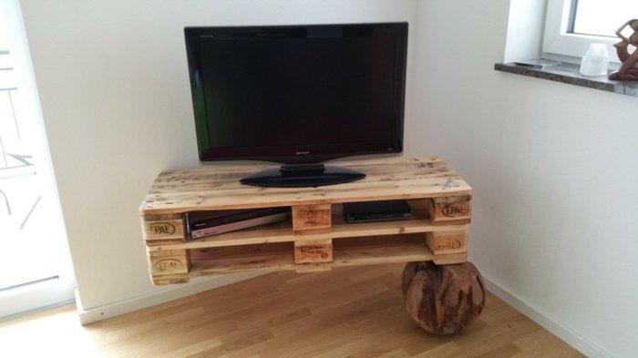 Palet de madera para decorar su hogar 100 ideas - Muebles rusticos para tv ...
