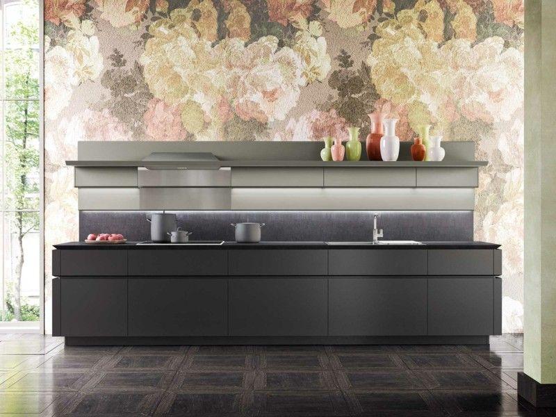 mueble cocina color negro gris