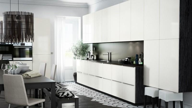 muebles cocina color blanco negro