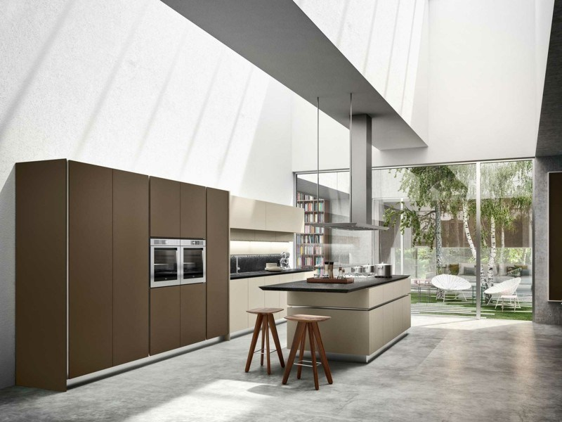muebles cocina color beige marron