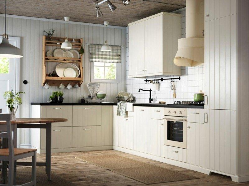 muebles cocina bandas verticales estilo retro
