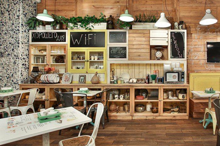 diseño cocina pallet madera