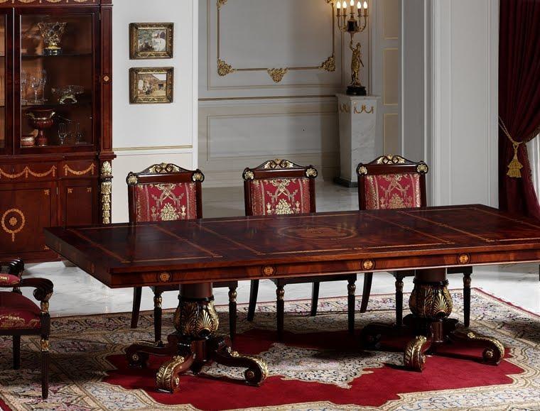 Muebles estilo colonial interiores elegantes con madera for Comedores coloniales