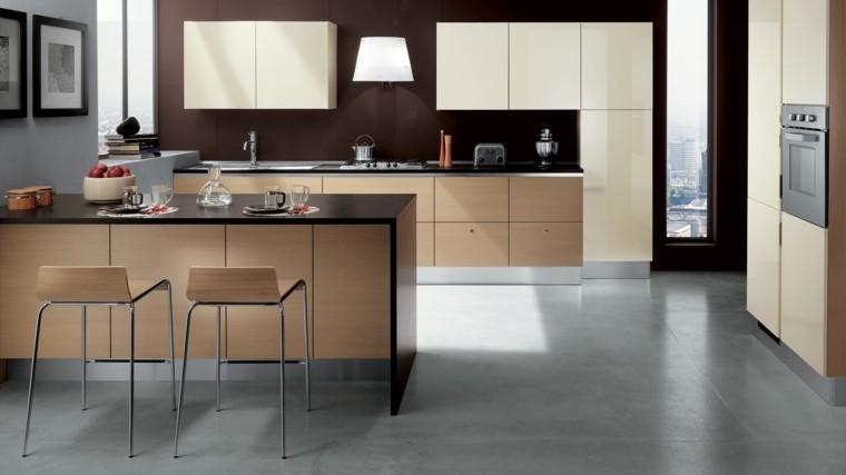 Muebles de cocina modernos para presumir for Muebles de cocina de madera modernos