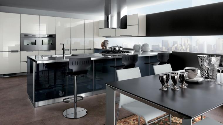 muebles de cocina modernos color negro ideas