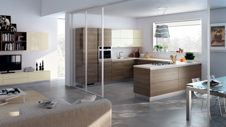 muebles de cocina modernos configuracion preciosa ideas