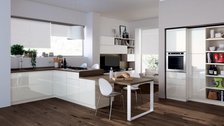 muebles cocina modernos muebles blancos preciosos ideas